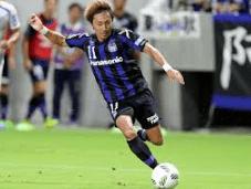 ガンバ大阪のMFの倉田秋選手