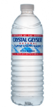 クリスタルガイザー飲水