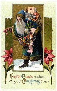 クリスマスカードに描かれた様々なサンタクロース2