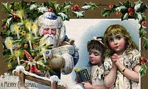 クリスマスカードに描かれた様々なサンタクロース4