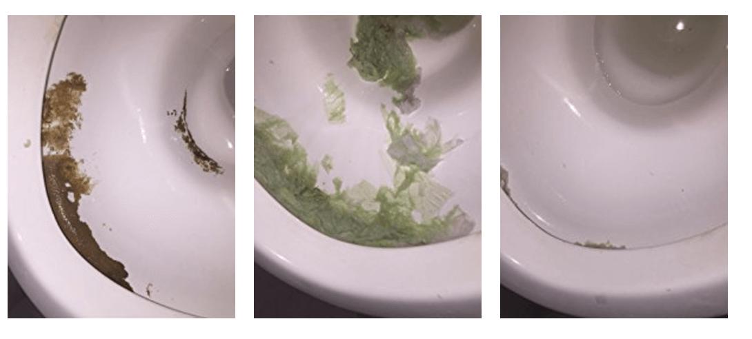 サンポールで尿石汚れが落ちた画像
