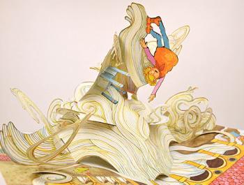 スパゲティ飛び出す絵本