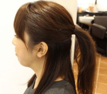 ハーフアップ髪型
