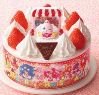 プリキュアクリスマスケーキ