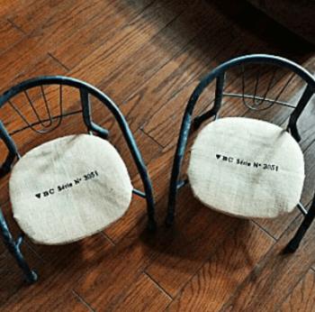 リメイクした豆椅子2脚
