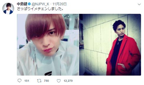 中島健の髪型がかっこいい