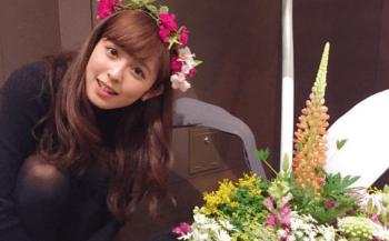 久慈暁子と花