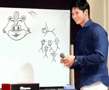 四角いフォルムの時計をしている大谷翔平選手