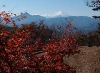 小仏城山富士山きれい紅葉
