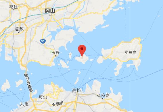 心臓音のアーカイブのある豊島の位置