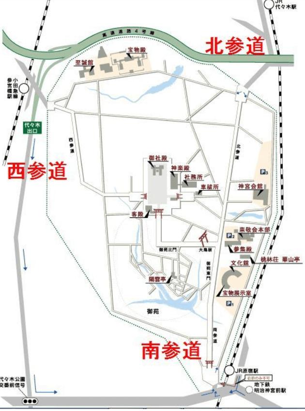 明治神宮の3つの参道