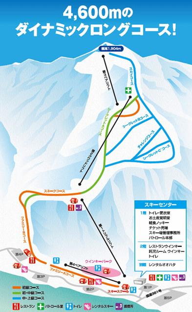 木曽福島スキー場のコース図