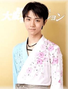 桜の衣装の羽生結弦