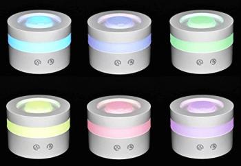 様々な色に発光するベステックのアロマディフューザー