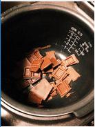 炊飯器でチョコを溶かす