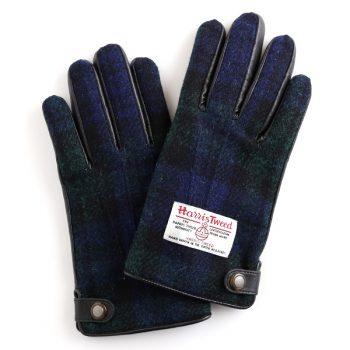 男子高校生に人気のハリスツイードの手袋