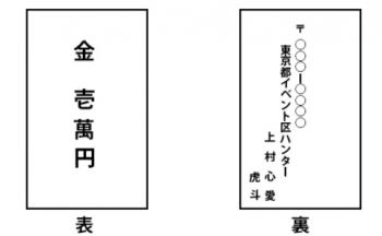 神社初穂料書き方