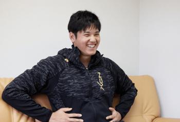 笑顔の大谷翔平選手