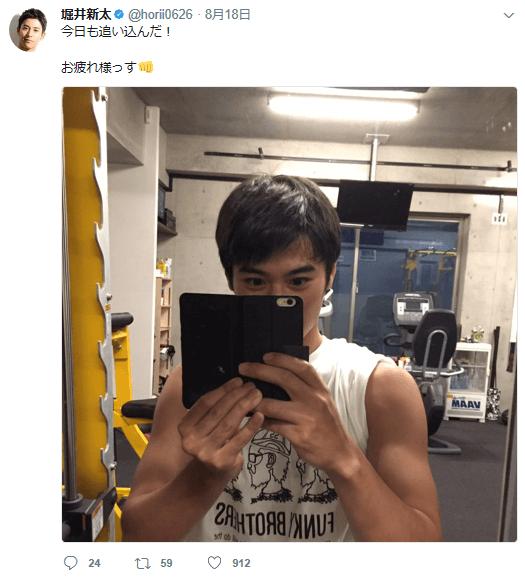 筋トレ後の堀井新太