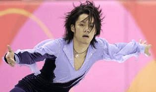 紫の衣装の高橋大輔