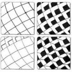 網の様なゼンタングルのパターン