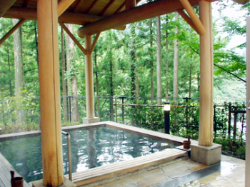 自然に囲まれた温泉