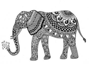 象のゼンタングル