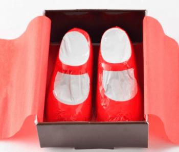赤い靴チョコかわいい