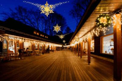 軽井沢クリスマスタウンのイルミネーション