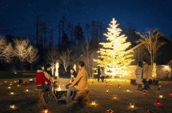 軽井沢クリスマスタウンの様子