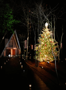 軽井沢高原教会のクリスマス