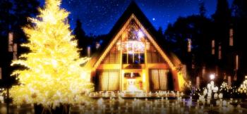 軽井沢高原教会クリスマスイルミネーションが人気