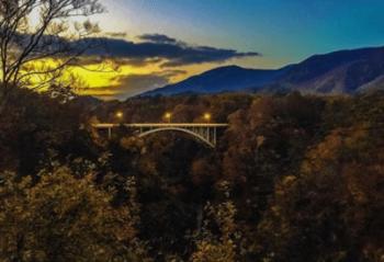 鳴子峡夕日きれい