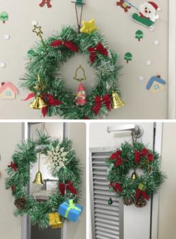 3枚のクリスマスリース