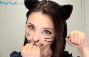 ハロウィン仮装猫メイク100均