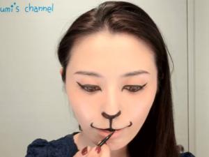 ハロウィン仮装猫メイク100均14