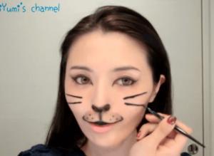 ハロウィン仮装猫メイク100均19