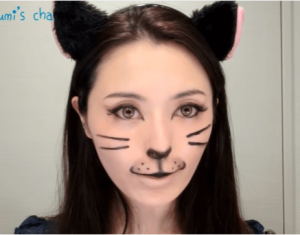 ハロウィン仮装猫メイク100均22