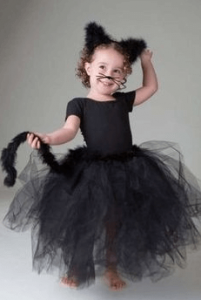 100均子供ハロウィン仮装黒猫