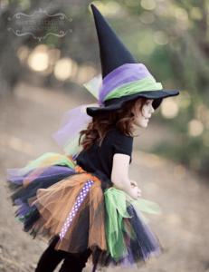 100均ハロウィン子供魔女