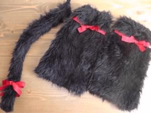 ハロウィン仮装黒猫手作り猫のしっぽ8