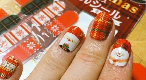 クリスマスネイルデザイン100円かわいい
