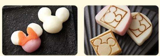 ディズニーおせちかまぼこミッキーの形