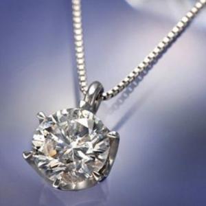 夫から妻へ結婚記念日ダイヤモンドネックレス