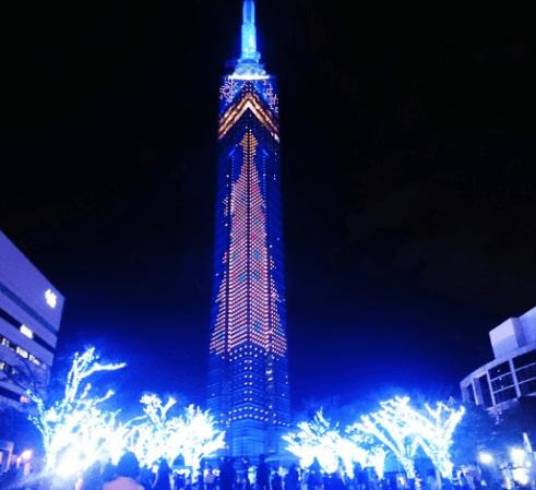 福岡タワーイルミネーション2015点灯式3