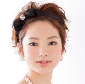 結婚式髪型ショートカチューシャ