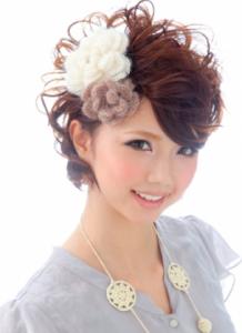 結婚式髪型ショート限定