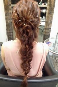結婚式髪型プリンセスロング