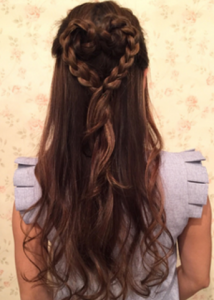 結婚式髪型ロングハート