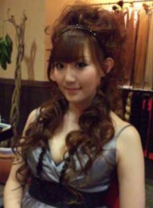 結婚式髪型ロング巻き巻き